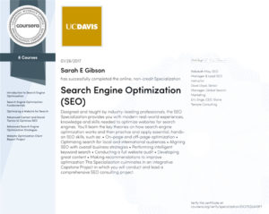 Search Engine Optimization Specialization