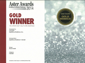 2014 Gold Aster AwardLightHouse Healthcare Calendar