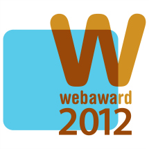 2012 WebAward for Non-Profit Standard of Excellencefor the Art Alliance for Contemporary Glass website