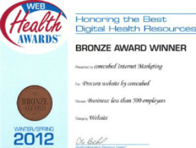 2012 Bronze Web Health AwardProcura website