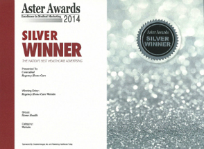 2014 Silver Aster AwardRegency Home Care Website