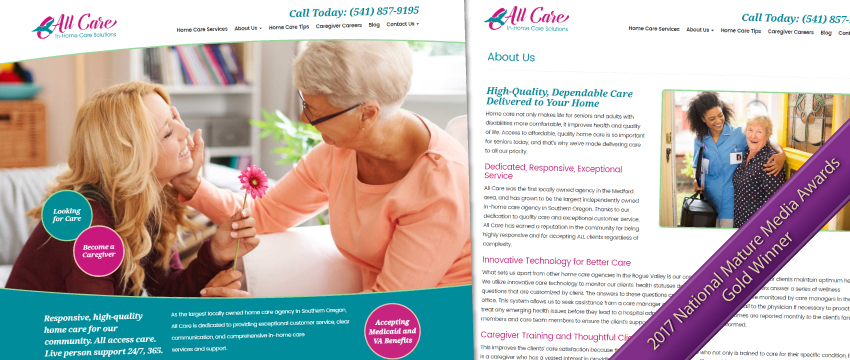 home care marketing website
