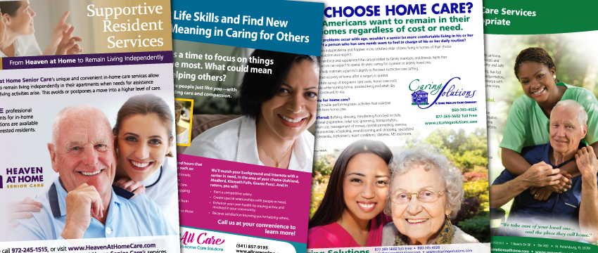 home care marketing flyers