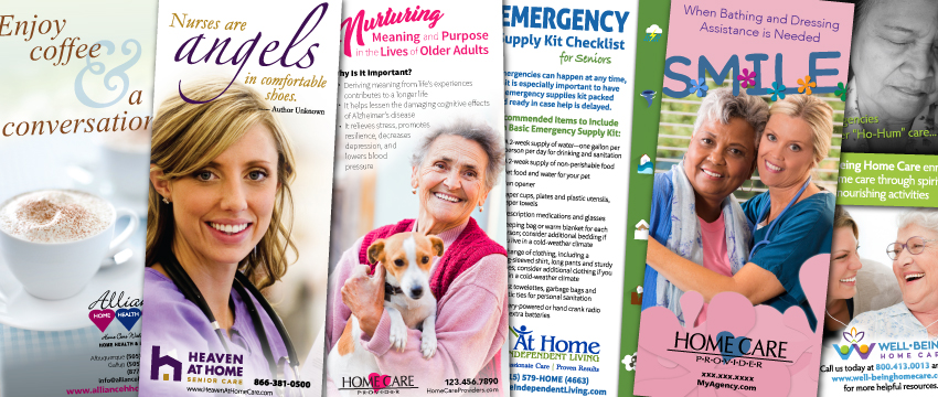 home care marketing rack cards