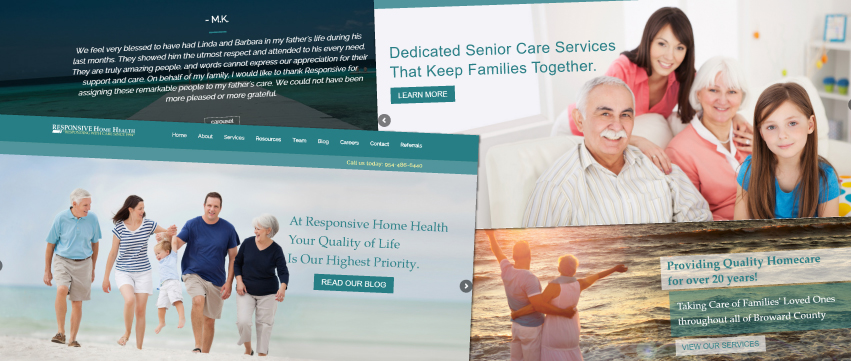 home care web design