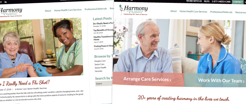 home care blog content