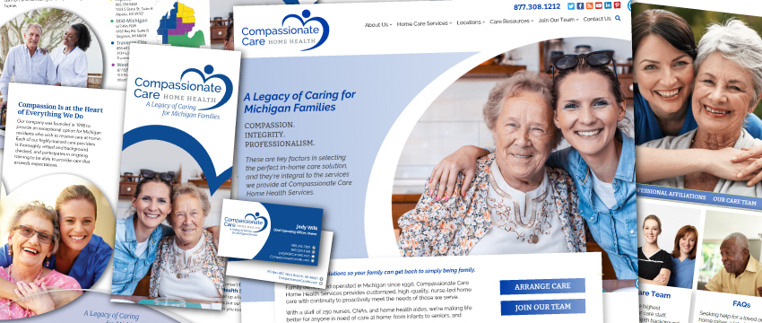 compassionate care home health services website brochure corp id