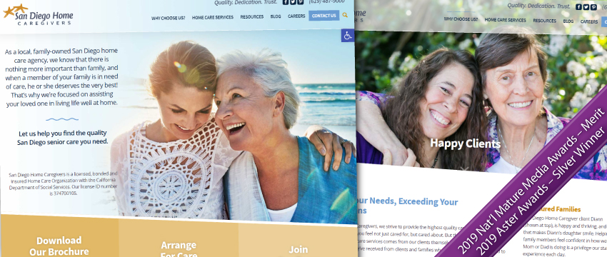 Sand Diego Home Caregivers website