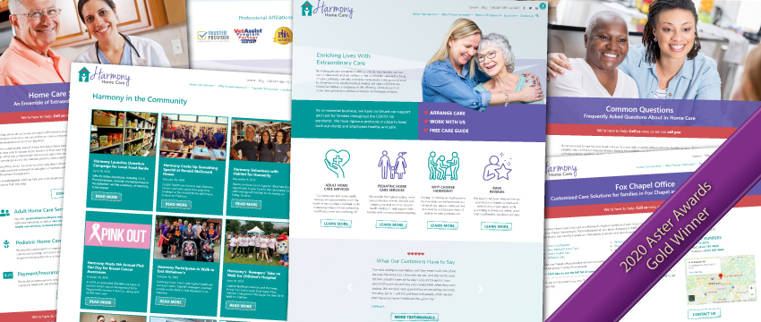 Harmony Home Care's Website