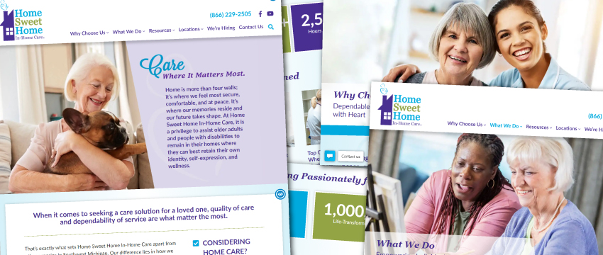 Home Sweet Home In-Home Care 2020 website