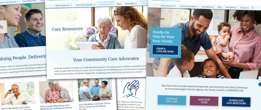 Stay Home Care website