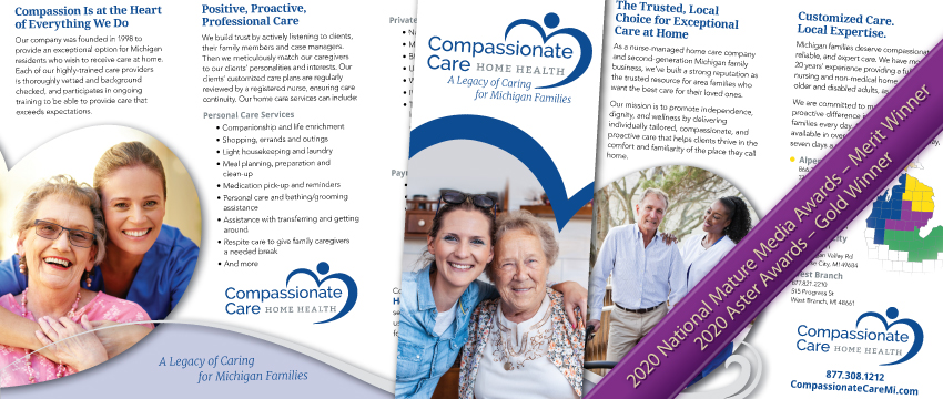 Compassionate Care Home Health Services - Award Winning Brochure