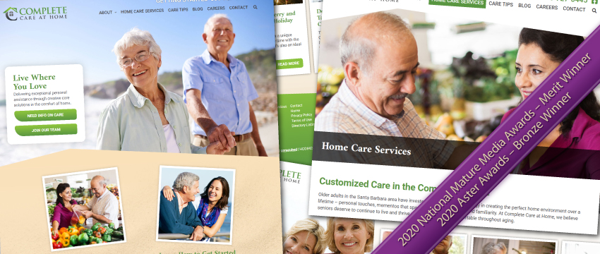 Complete Care at Home's Award-Winning Website