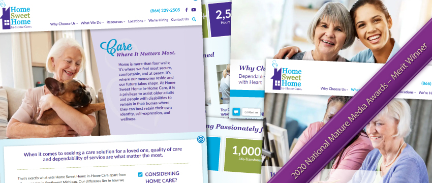 Home Sweet Home In-Home Care's Award-Winning Website
