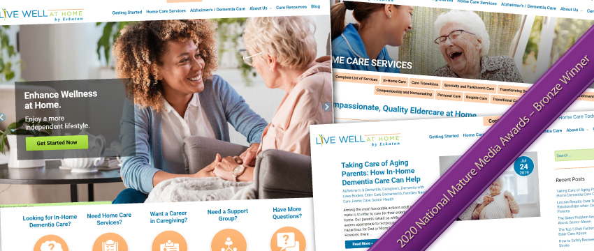 Live Well at Home's Award-Winning Website