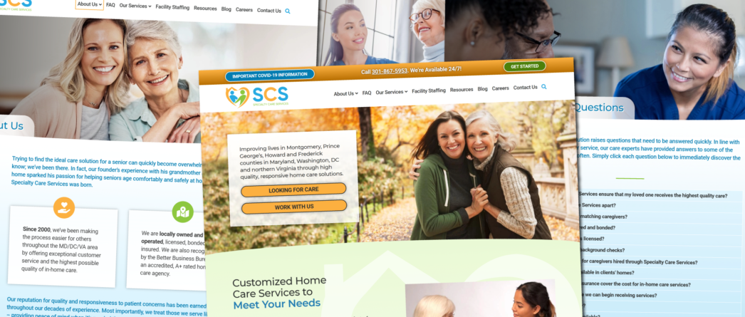 Specialty Care Services website