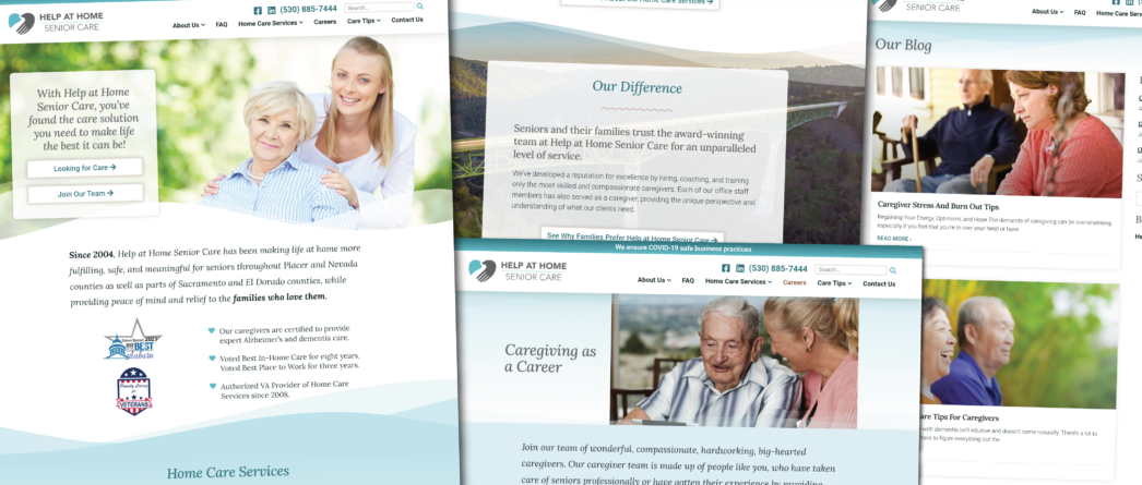 Help at Home Senior Care's New Website